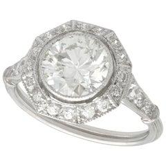 Antique 2.30 Carat Diamond Platinum Ring