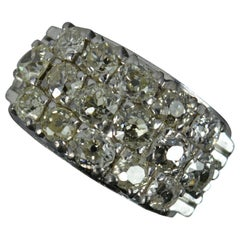 Antique 2.75ct Old Cut Diamond 18ct White Gold Cluster Ring