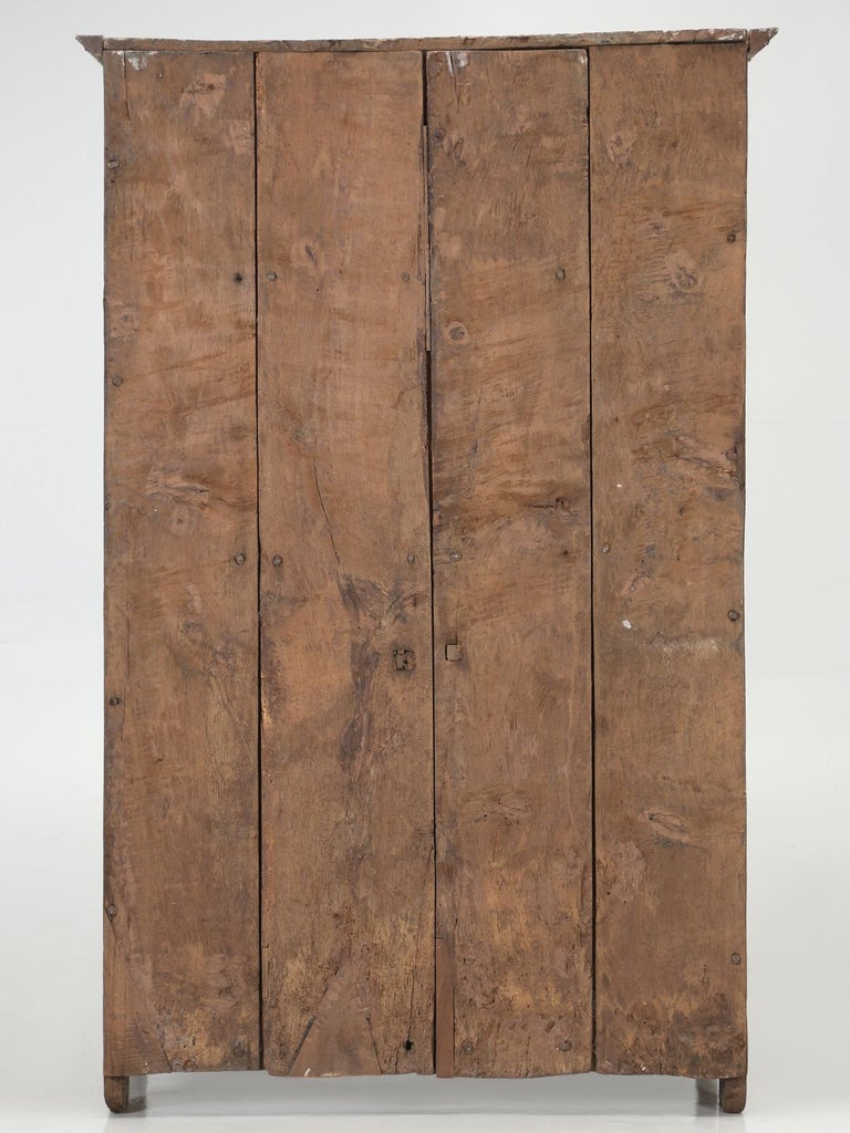 Antique 4-Door Cupboard or Armoire circa 1600's Still Beautiful and Unrestored For Sale 13