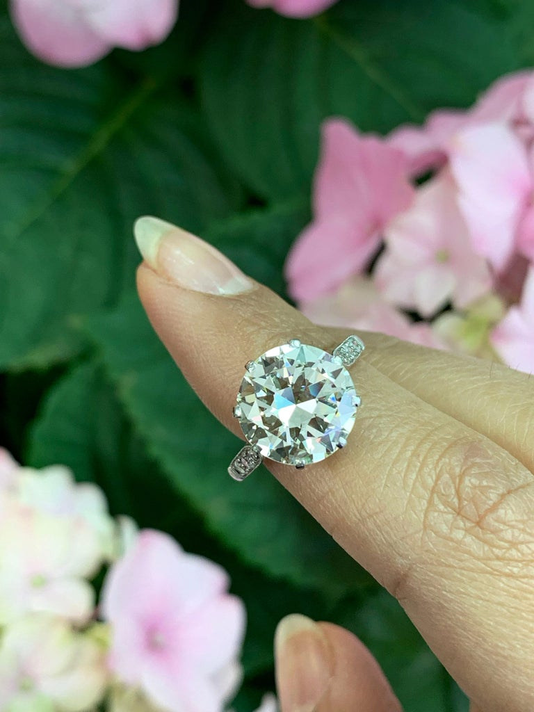 Antique 4.11 Carat Old Cut Diamond Engagement Ring, circa 1910 For Sale 2