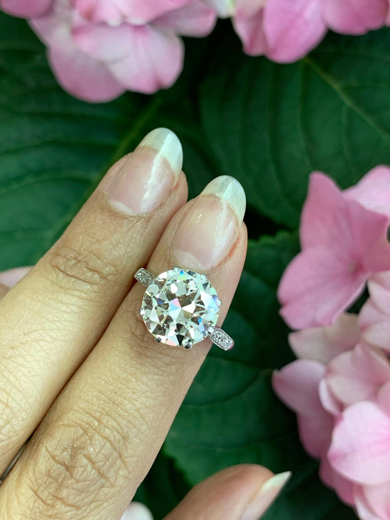 Antique 4.11 Carat Old Cut Diamond Engagement Ring, circa 1910 For Sale 3