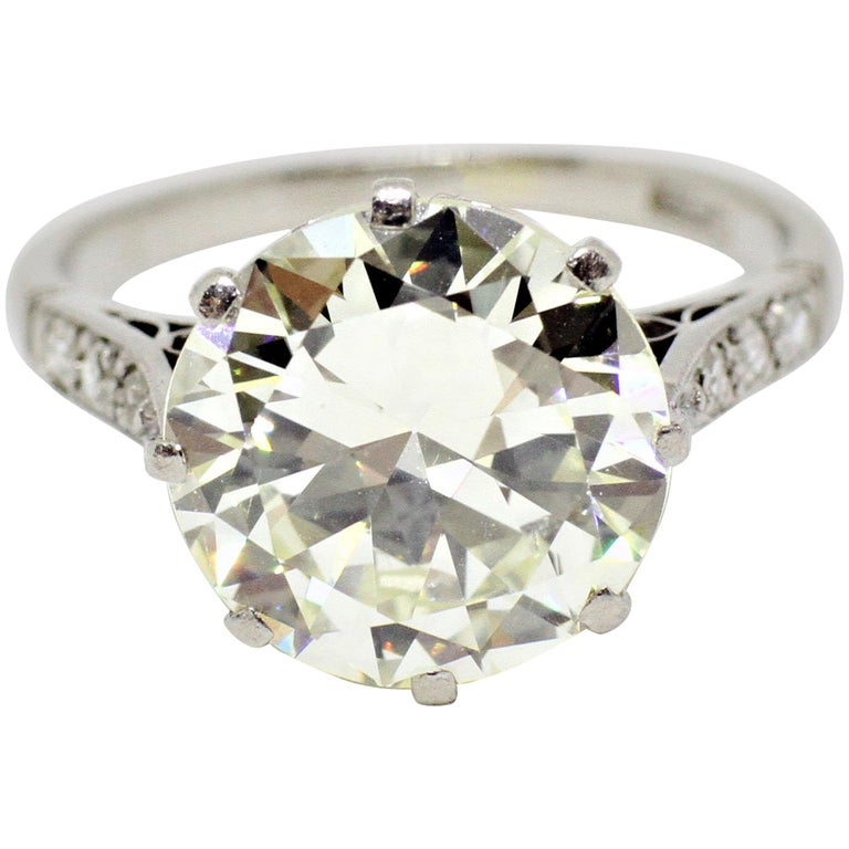 Antique Engagement Rings For Sale: Antique 4.11 Carat Old Cut Diamond Engagement Ring, Circa