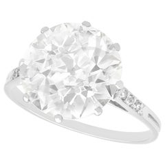 Antique 4.33 Carat Diamond and Platinum Solitaire Ring, Circa 1915