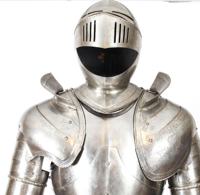 Hand-Crafted Antique Complete Set of Greenwich Style Tudor Armour, Early 20th Century For Sale