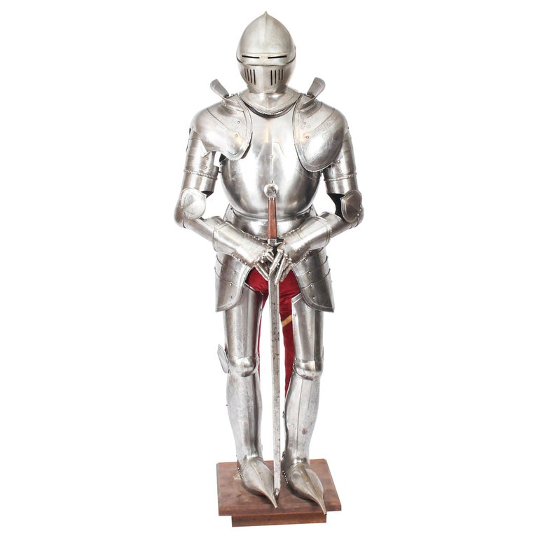 Antique Complete Set of Greenwich Style Tudor Armour, Early 20th Century For Sale