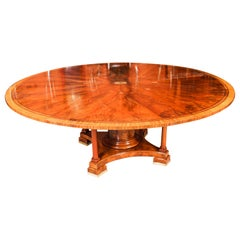 Antique Flame Mahogany Jupe Dining Table, Early 20th Century