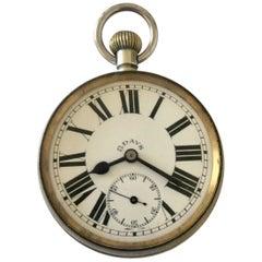 Antique 8 Day Big Heavy Pocket Watch