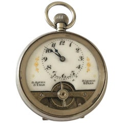 Antique 8 Day Swiss Made Hebdomas Nickel Pocket Watch