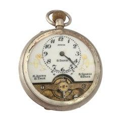 Antique 8 Days Jovis Swiss Made Pocket Watch