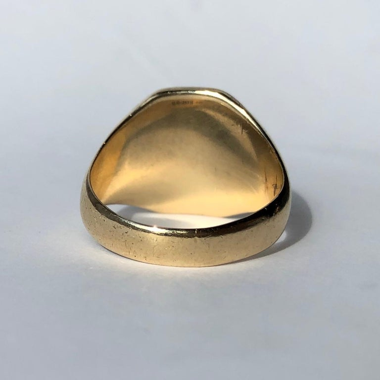 Art Deco Antique 9 Carat Gold Signet Ring