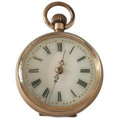 Antique 9 Karat Gold Hand Wind Fob / Pocket Watch