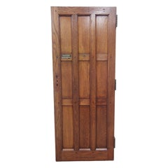 Antique 9 Pane Arts & Crafts Chestnut Privacy Door