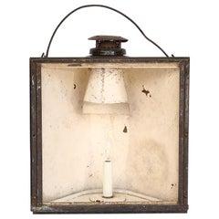 Antique Adams and Westlake Adlake Non Sweating Chicago Lantern