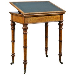 Antique, Adjustable Writing Table, English, Oak, Johnstone and Jeanes circa 1850