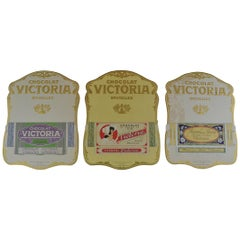 Antique Advertising for Chocolat Victoria Brussels, Set of 3