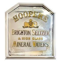 Antique Advertising Mirror Hoopers Brighton Seltzer