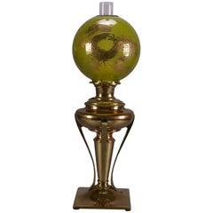 Antique Aesthetic Movement Parker Electrified GWW Gilt Dragon Oil Lamp
