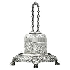 Antique Aesthetic Movement Tiffany & Co. Sterling Silver Bell on Stand 1873-1891