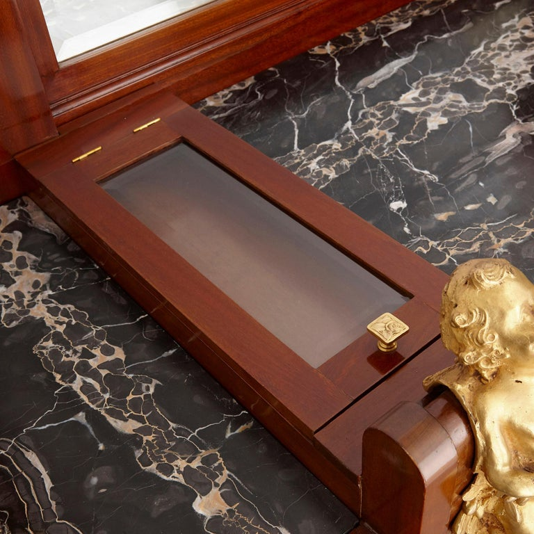 Antique Aesthetic Style Marquetry and Gilt Bronze Dressing Table For Sale 3