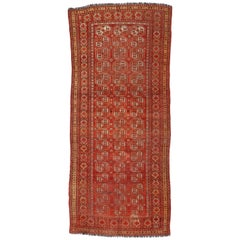 Antique Afghan Ersari Gallery Rug with Tribal Style, Wide Hallway Runner