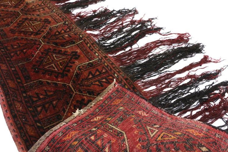 20th Century Antique Afghan Turkoman Turkmen Torba Bag, Wall Hanging, Tribal Textile Tapestry For Sale