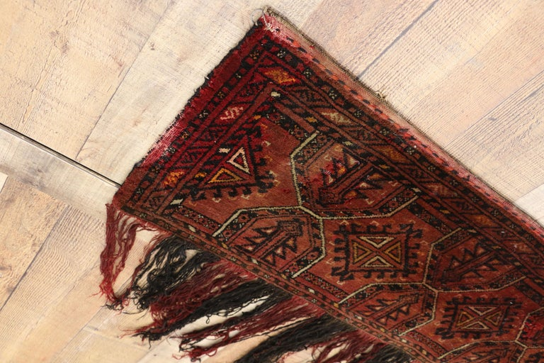 Wool Antique Afghan Turkoman Turkmen Torba Bag, Wall Hanging, Tribal Textile Tapestry For Sale
