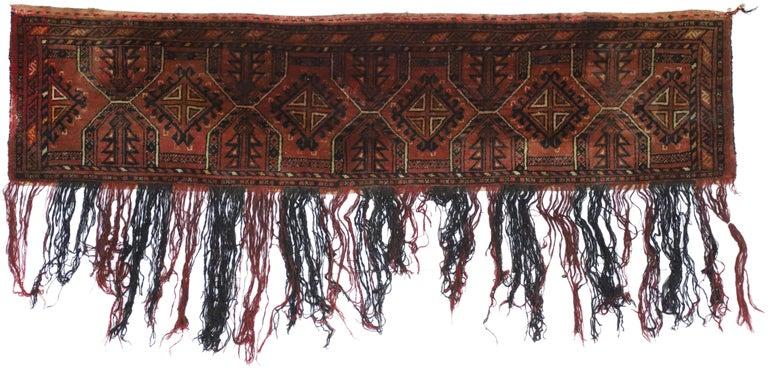Antique Afghan Turkoman Turkmen Torba Bag, Wall Hanging, Tribal Textile Tapestry For Sale 3
