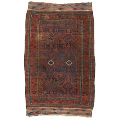 Antique Afghani Rug with Nomadic Tribal Style