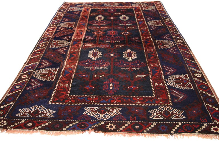 20th Century Antique Afghani Tribal Rug or Kitchen, Bath, Foyer or Entryway For Sale