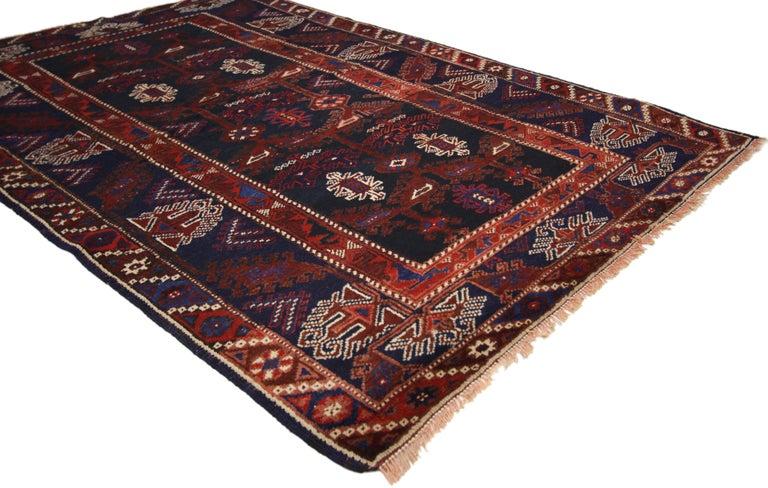 Wool Antique Afghani Tribal Rug or Kitchen, Bath, Foyer or Entryway For Sale