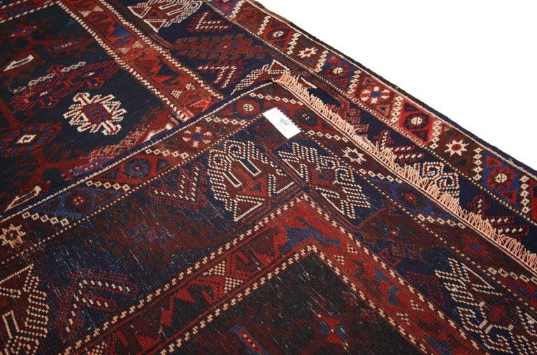 Antique Afghani Tribal Rug or Kitchen, Bath, Foyer or Entryway For Sale 1