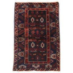 Antique Afghani Tribal Rug or Kitchen, Bath, Foyer or Entryway