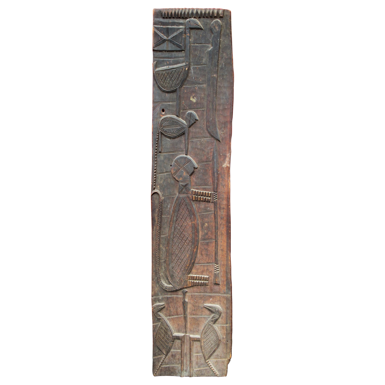 Antique African Carved Door Panel