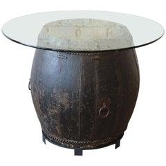 Antique African Drum Table