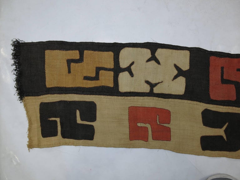Kilim Antique African Kuba Cloth Hanging For Sale