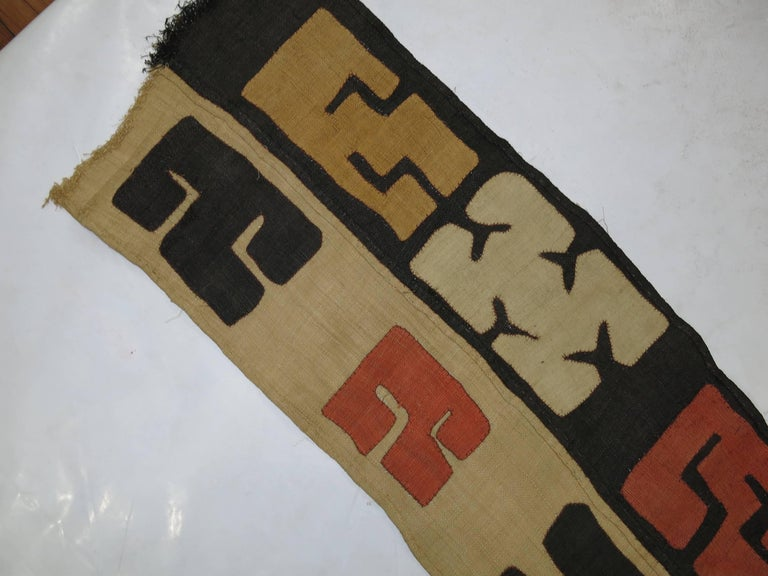 Antique African Kuba Cloth Hanging In Excellent Condition For Sale In New York, NY