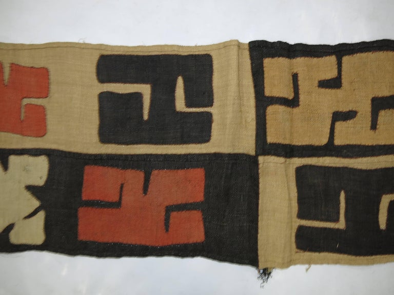 20th Century Antique African Kuba Cloth Hanging For Sale