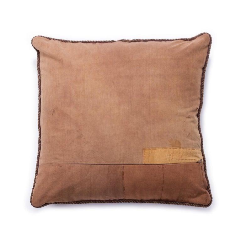 Modern Antique African Kuba Pillow For Sale