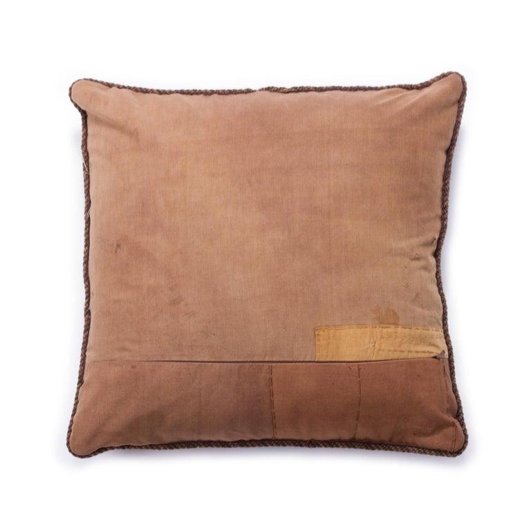 American Antique African Kuba Pillow For Sale
