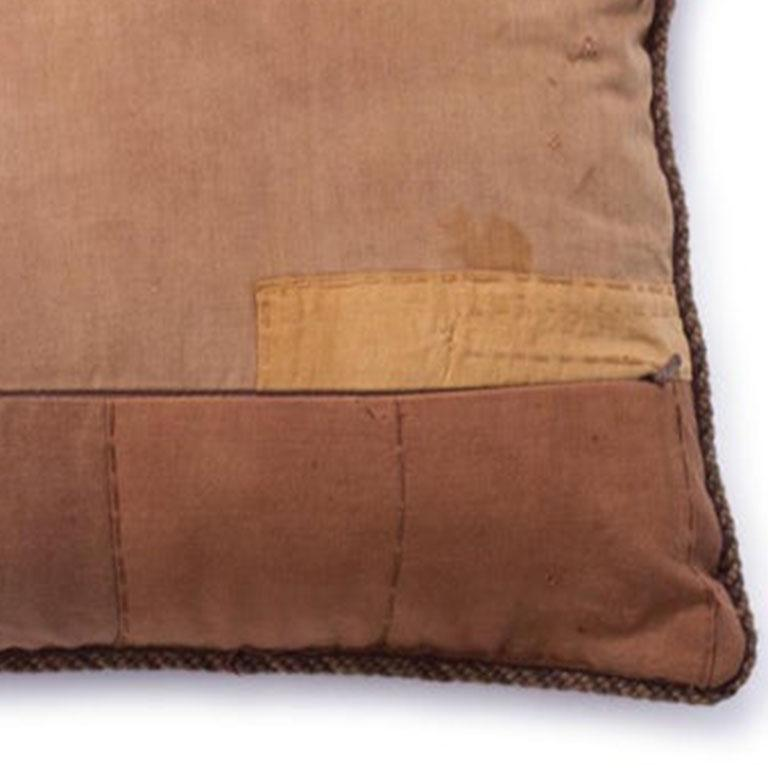 Embroidered Antique African Kuba Pillow For Sale