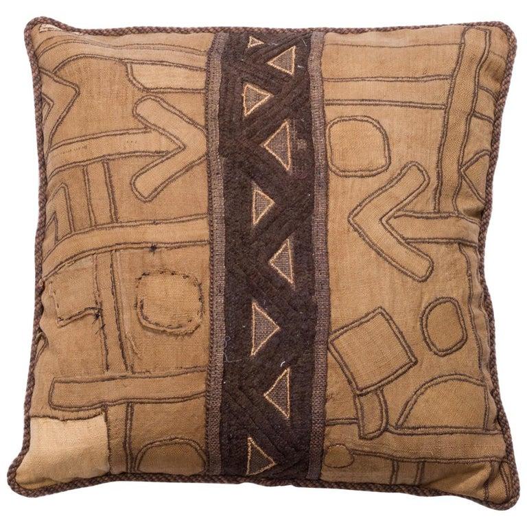 Antique African Kuba Pillow For Sale