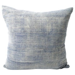 Antique African Mud-Cloth Pillow with Original Seam Details