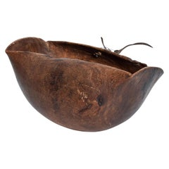 Antique African Tribal Art Hand Carved Wood Bowl