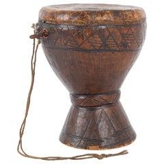 Antique African Wooden Drum