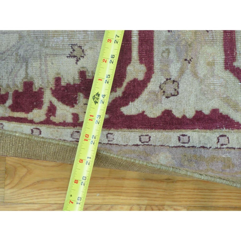 Persian Antique Agra Mint Condition Full Pile Medallion Design Rug For Sale