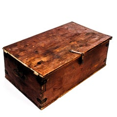 Antique Allmoge Chest from Sweden 1839 in Pine
