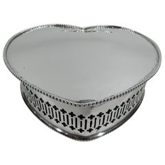 Antique Alvin Edwardian Sterling Silver Heart-Shaped Jewelry Box