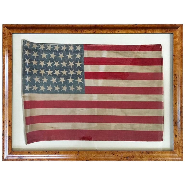 Antique American 46 Star Flag from 1908 For Sale