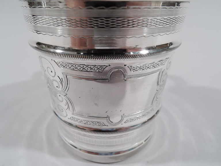 Antique American Aesthetic Coin Silver Baby Cup by Chicago Maker In Good Condition For Sale In New York, NY