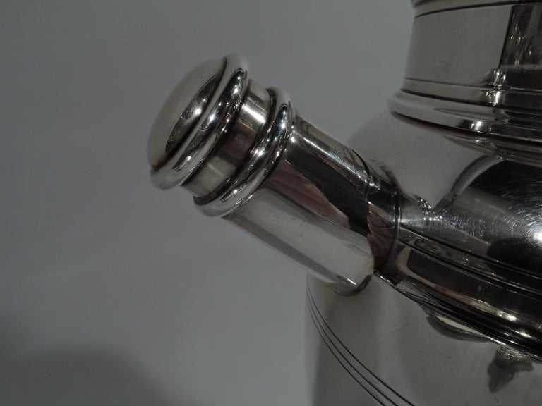 20th Century Antique American Art Deco Sterling Silver Cocktail Shaker For Sale
